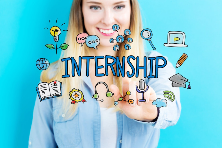 Internship concept with young woman